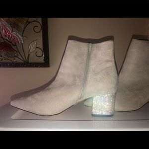 Bling Heeled Booties
